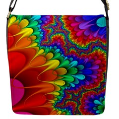Colorful Trippy Flap Messenger Bag (s) by Sapixe