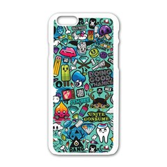 Comics Collage Apple Iphone 6/6s White Enamel Case by Sapixe