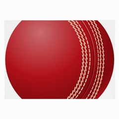 Cricket Ball Large Glasses Cloth (2 Side) by Sapixe