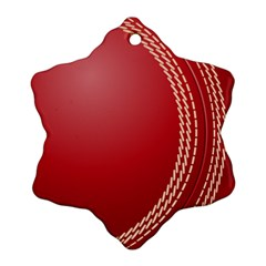 Cricket Ball Snowflake Ornament (two Sides) by Sapixe