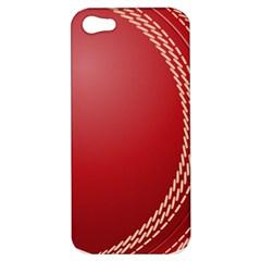 Cricket Ball Apple Iphone 5 Hardshell Case by Sapixe