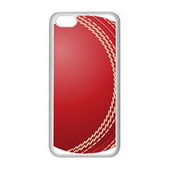 Cricket Ball Apple Iphone 5c Seamless Case (white) by Sapixe