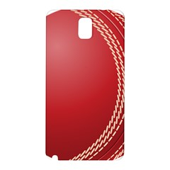 Cricket Ball Samsung Galaxy Note 3 N9005 Hardshell Back Case by Sapixe