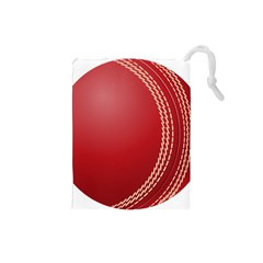 Cricket Ball Drawstring Pouches (small)  by Sapixe