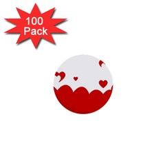 Heart Shape Background Love 1  Mini Buttons (100 Pack)