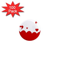 Heart Shape Background Love 1  Mini Magnets (100 Pack)