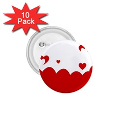 Heart Shape Background Love 1 75  Buttons (10 Pack)