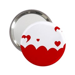 Heart Shape Background Love 2 25  Handbag Mirrors