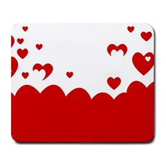 Heart Shape Background Love Large Mousepads