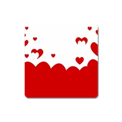 Heart Shape Background Love Square Magnet