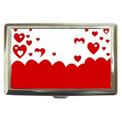Heart Shape Background Love Cigarette Money Cases
