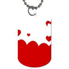 Heart Shape Background Love Dog Tag (two Sides)
