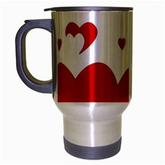 Heart Shape Background Love Travel Mug (silver Gray)