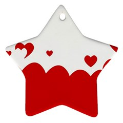 Heart Shape Background Love Star Ornament (two Sides)