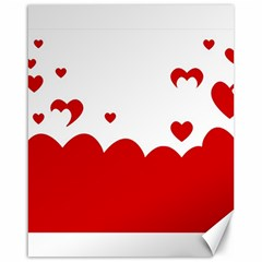 Heart Shape Background Love Canvas 16  X 20