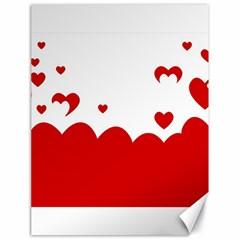 Heart Shape Background Love Canvas 18  X 24