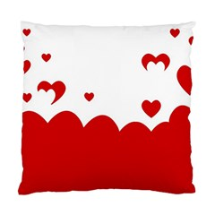 Heart Shape Background Love Standard Cushion Case (two Sides)