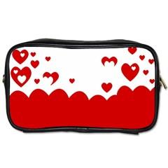 Heart Shape Background Love Toiletries Bags 2 Side