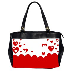 Heart Shape Background Love Office Handbags (2 Sides)