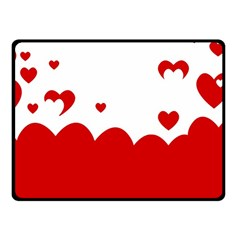Heart Shape Background Love Fleece Blanket (small)