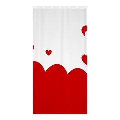 Heart Shape Background Love Shower Curtain 36  X 72  (stall)