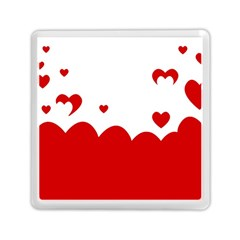 Heart Shape Background Love Memory Card Reader (square)