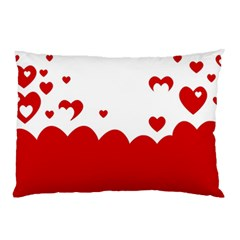 Heart Shape Background Love Pillow Case (two Sides)