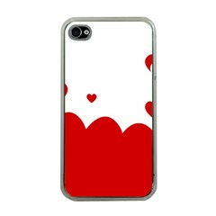 Heart Shape Background Love Apple Iphone 4 Case (clear)