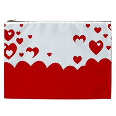 Heart Shape Background Love Cosmetic Bag (xxl)