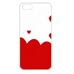 Heart Shape Background Love Apple Iphone 5 Seamless Case (white)