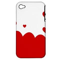 Heart Shape Background Love Apple Iphone 4/4s Hardshell Case (pc+silicone)