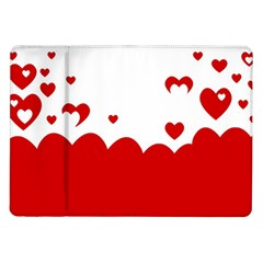 Heart Shape Background Love Samsung Galaxy Tab 10 1  P7500 Flip Case