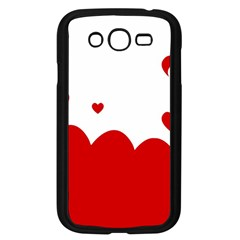 Heart Shape Background Love Samsung Galaxy Grand Duos I9082 Case (black)