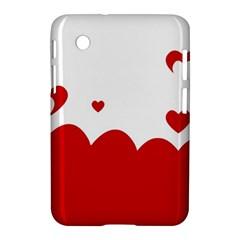 Heart Shape Background Love Samsung Galaxy Tab 2 (7 ) P3100 Hardshell Case