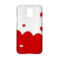 Heart Shape Background Love Samsung Galaxy S5 Hardshell Case