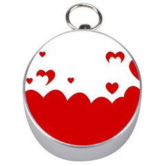 Heart Shape Background Love Silver Compasses
