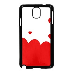 Heart Shape Background Love Samsung Galaxy Note 3 Neo Hardshell Case (black)