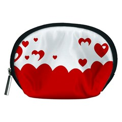 Heart Shape Background Love Accessory Pouches (medium)