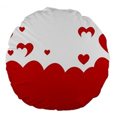 Heart Shape Background Love Large 18  Premium Flano Round Cushions