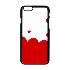 Heart Shape Background Love Apple Iphone 6/6s Black Enamel Case