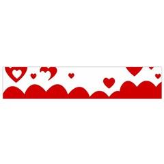 Heart Shape Background Love Small Flano Scarf