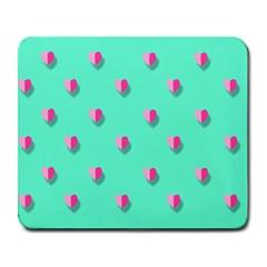 Love Heart Set Seamless Pattern Large Mousepads
