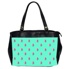 Love Heart Set Seamless Pattern Office Handbags (2 Sides)