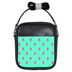 Love Heart Set Seamless Pattern Girls Sling Bags