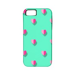 Love Heart Set Seamless Pattern Apple Iphone 5 Classic Hardshell Case (pc+silicone)