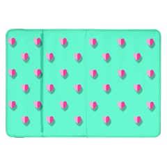 Love Heart Set Seamless Pattern Samsung Galaxy Tab 8 9  P7300 Flip Case