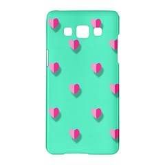 Love Heart Set Seamless Pattern Samsung Galaxy A5 Hardshell Case