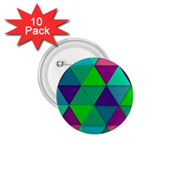 Background Geometric Triangle 1 75  Buttons (10 Pack)