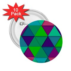 Background Geometric Triangle 2 25  Buttons (10 Pack)