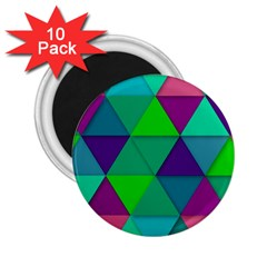 Background Geometric Triangle 2 25  Magnets (10 Pack)  by Nexatart